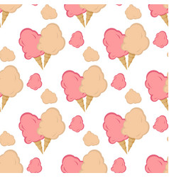 cotton candy wrapper seamless pattern vector image