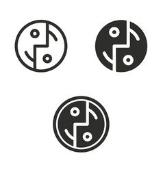 digital interaction icon set vector image