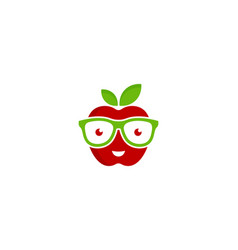 Geek fruit logo icon design vector