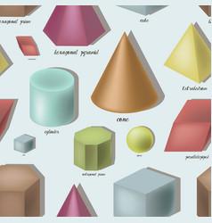 Geometric shapes set pattern vector