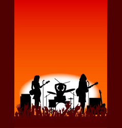 girl band vector image