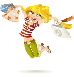 Girl shopaholic vector image