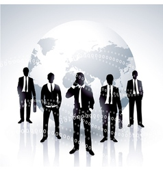 global businessmen vector image