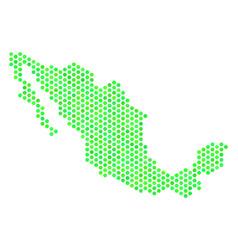 Green honeycomb mexico map vector