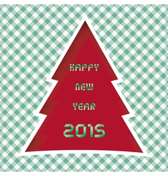 Happy new year 2015 greeting card11 vector image