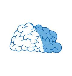 Human brain think creativity image vector