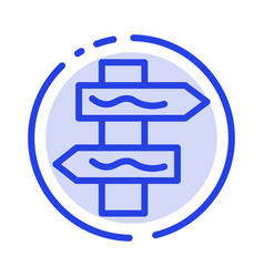 Index navigation road blue dotted line line icon vector