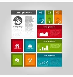 Info graphic company vector image