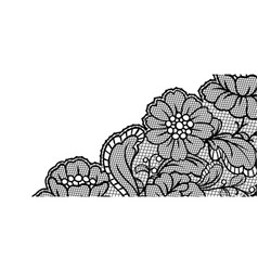 Lace ornamental background with flowers vector