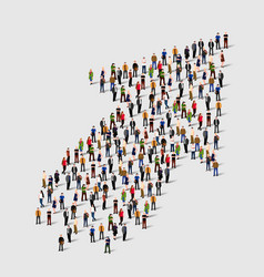 large group of people in an arrow vector image