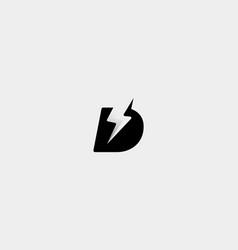 Letter d bolt logo design icon vector