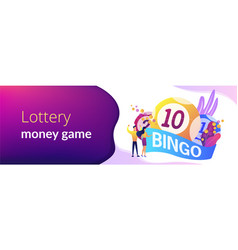 Lottery game concept banner header vector