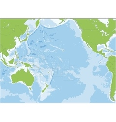 Map oceania vector