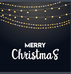 merry christmas lighting background vector image