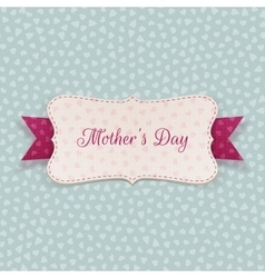 Mothers Day paper Banner with festive Ribbon vector