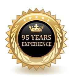 Ninety Five Years Experience Badge vector