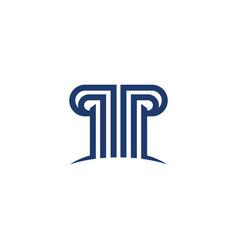 P letter logo template vector