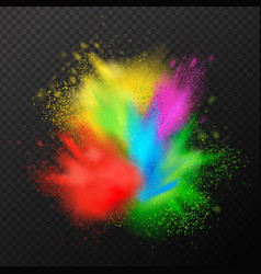 Paint explosion realistic composition vector