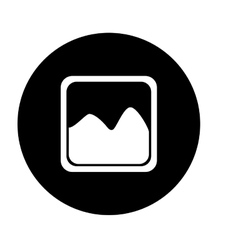 Photograph or image gallery button thumbnail icon vector