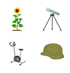plants fitness and other web icon in cartoon vector image