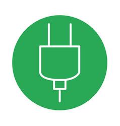 Plug energy isolated icon vector