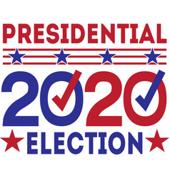 presidential 2020 election isolated on white vector image