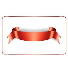 Red ribbon satin vector