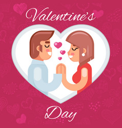 romantic beloved dating man woman symbol icon vector image