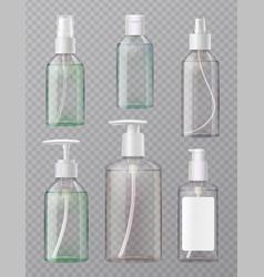 Sanitizer bottles set vector