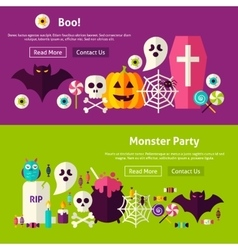 Scary Party Website Banners vector