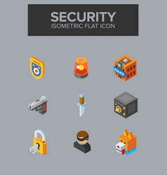 security isometric icon vector image
