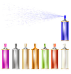 Set of colored sprays isolated vector