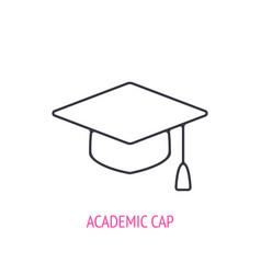 square academic cap outline icon vector image
