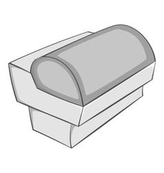 Supermarket counter icon gray monochrome style vector