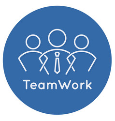 teamwork business concept icon on white background vector image