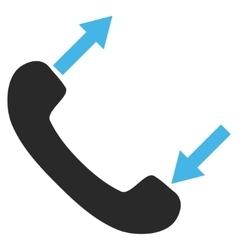 Telephone Talking Flat Pictogram vector image