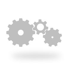 Three grey cog wheels vector
