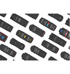 top view of black cars seamless pattern vector image