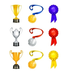 Trophy icon set vector