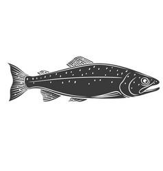 trout fish glyph icon vector image