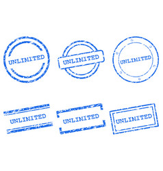 Unlimited stamps vector