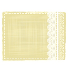 Vintage border with lace vector