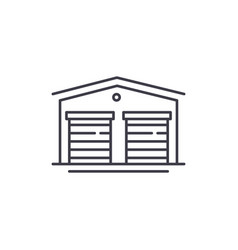 warehouses line icon concept warehouses vector image