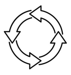 Water recycling icon outline style vector