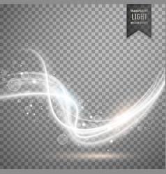 white transparent light effect in wave style vector image