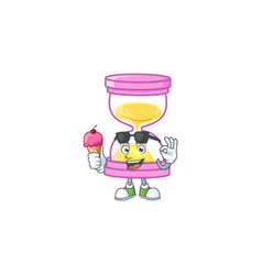 With ice cream sandglass for a deadline vector