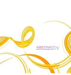 Yellow abstract ribbons background vector
