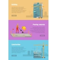 Building Pouring Concrete Construction vector image