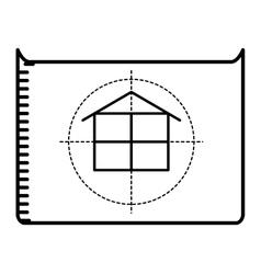 floor plan isolated icon design vector image