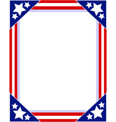 frame photo with american symbols vector image vector image